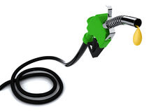 Fuel pump with drop Royalty Free Stock Images