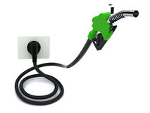 Fuel pump with electric cable and plug Stock Photography