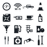 Fuel pump, gas station icons Royalty Free Stock Image