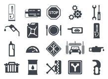 Fuel pump, gas station icons Stock Photography