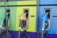 Fuel pump in the gas station,petrol Stock Photos
