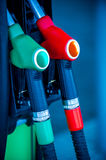 Fuel pump guns. Royalty Free Stock Photography