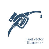 Fuel pump in hand Royalty Free Stock Image