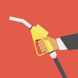 Fuel pump in hand. Stock Images