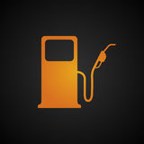 Fuel pump icon. Empty fuel tank warning light Royalty Free Stock Photos