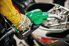 Fuel Pump. In Motorcycle Royalty Free Stock Images