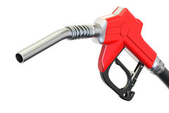 Fuel pump nozzle, 3D rendering. Isolated on white background Stock Photo