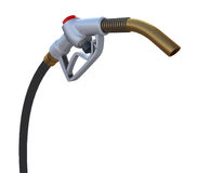 Fuel pump nozzle. Front view Royalty Free Stock Photos