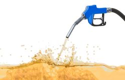 Free Fuel Pump Nozzle With Petrol, 3D Rendering Royalty Free Stock Photography - 147656287