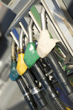 Fuel pump nozzles Stock Photos
