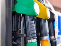Fuel pump nozzles Stock Image