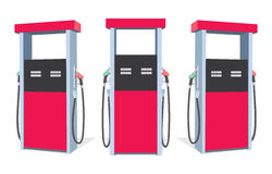 Fuel pump. Set of fuel pumps from different sides. Petrol station. Gas station vector illustration