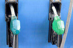 Fuel pump at a station Royalty Free Stock Images