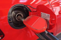 Fuel Pumping into Car Royalty Free Stock Photos