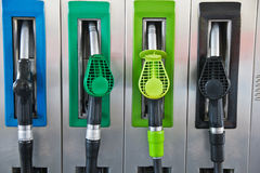 Fuel pumps or dispensers in Gas Royalty Free Stock Photos