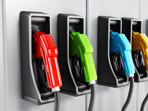 Fuel pumps Royalty Free Stock Image