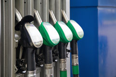Fuel pumps petrol Royalty Free Stock Photo