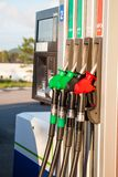 Fuel pumps at petrol station Stock Image