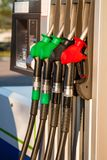 Fuel pumps at petrol station Royalty Free Stock Photography