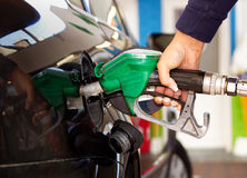 Fuel refilling Stock Images