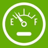 Fuel sensor icon green. Fuel sensor icon white isolated on green background. Vector illustration Royalty Free Stock Photography