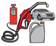 Fuel service station Royalty Free Stock Photos