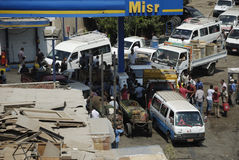 Fuel Shortage in Egypt Stock Photography