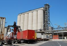 Fuel silos and containers Royalty Free Stock Photography