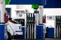 Fuel Station. For refilling cars stock photo