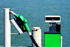 Fuel station for boat Royalty Free Stock Photos