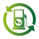Fuel station ecology icon. Vector illustration design Royalty Free Stock Photos
