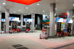 Fuel station at evening. Stock Images