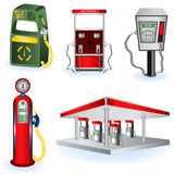 Fuel station images. A collection of five different fuel station icons Stock Photography