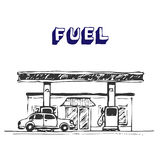 fuel stationen Royaltyfri Foto