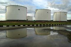 Fuel Storage. High capacity fuel storage is is full with gasoline Royalty Free Stock Images