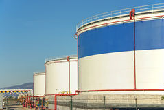 Fuel Storage Plant Stock Photography