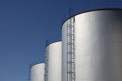 Fuel storage tank. Details of fuel storage tank Royalty Free Stock Photography