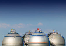 Fuel Storage Tank. In rafinery Royalty Free Stock Image