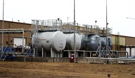 Fuel storage tank. Tanks for temporary storage of motor fuel Stock Photography