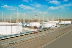 Fuel Storage Tanks Royalty Free Stock Photo