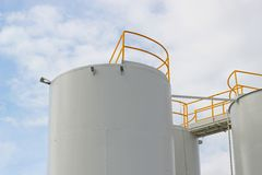 Fuel storage tanks Stock Photography