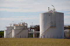 Fuel storage tanks Royalty Free Stock Images