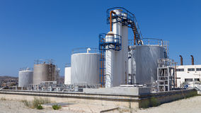 Fuel storage tanks in industry Stock Image