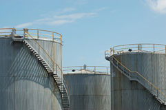 Fuel storage tanks Stock Image