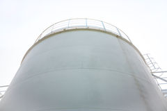 Fuel store tank of refueling complex. In the airport Stock Photo