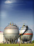 Fuel tank. In the refinery Stock Images