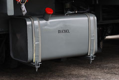 Fuel Tank. A photo taken on the diesel fuel tank of a truck Stock Photography