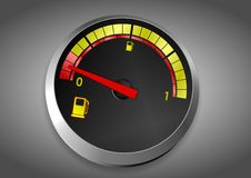 Fuel tank almost empty Royalty Free Stock Image