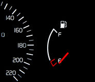 Fuel Tank Gauge Empty Stock Photo