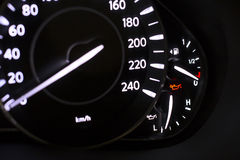 Fuel Tank Gauge Empty. Black Royalty Free Stock Images